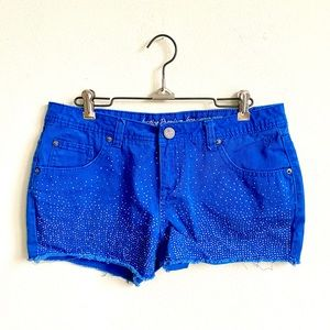 JUSTICE BOLD BLUE SEQUIN SHORTS SZ 18R
